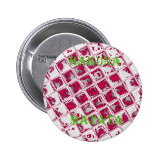 Red Hakuna Matata Style 6 Cm Round Badge