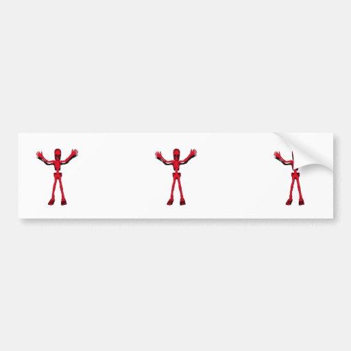 Red Halloween Skeleton Bumper Sticker
