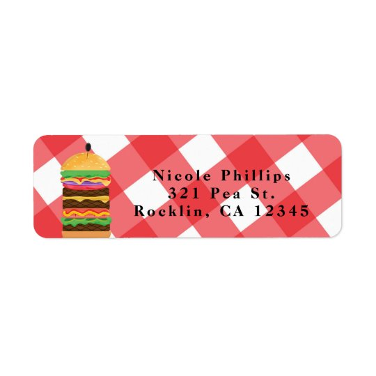 Red Hamburger Summer Cookout Barbecue Invitation