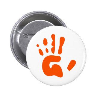 Red Hand Print 6 Cm Round Badge