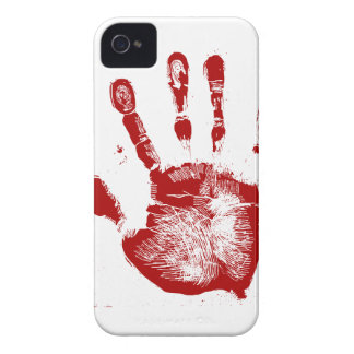 Red Hand Print iPhone 4 Cover