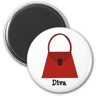 Red Handbag - Diva Magnet
