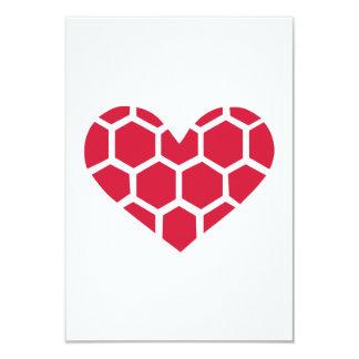 """Red Handball heart 3.5"""" X 5"""" Invitation Card"""