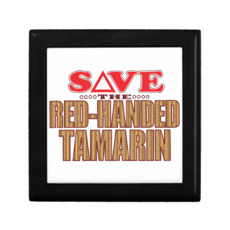 Red-Handed Tamarin Save Small Square Gift Box