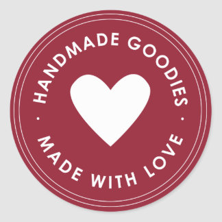 Red Handmade Goodies Sticker