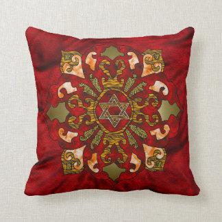 Red Hanukkah Cushion