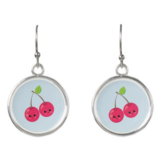 Red Happy Cherries Earrings
