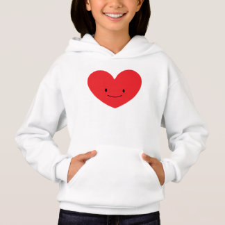 Red Happy Heart Kids Hoodie