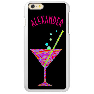 Red Happy Hour Cocktail Glass Martini Colorful Incipio Feather® Shine iPhone 6 Plus Case