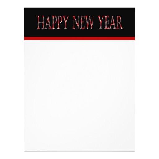 red happy new year custom flyer