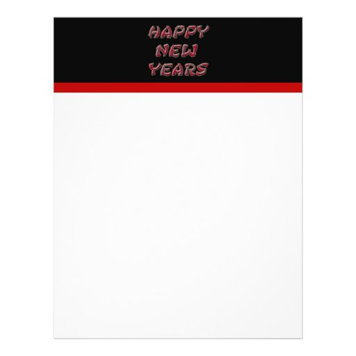red happy new years personalized flyer