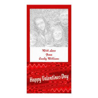 red  Happy Valentines Day Photo Card