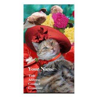 RED HAT OF PRINCESS TATUS Pet,Cat Beauty Salon Business Card Template