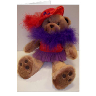 Red Hat Teddy Greeting Cards
