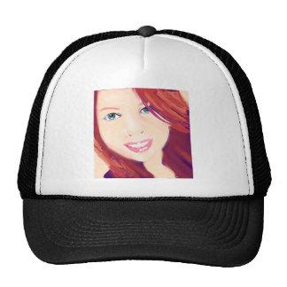 Red head girl trucker hats