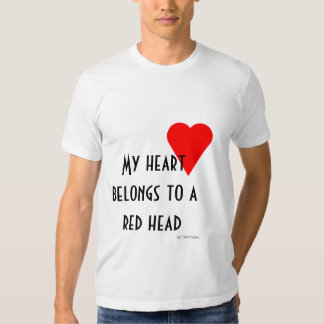 Red Head Heart T-shirt