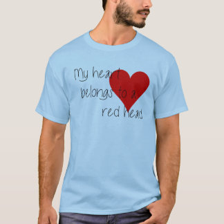 Red Head Heart Valentine's day T-shirt