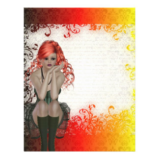 Red headed goth girl flyer