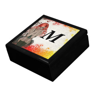 Red headed goth girl jewelry boxes