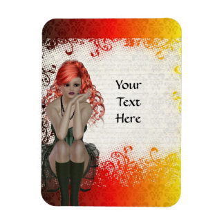 Red headed goth girl magnet