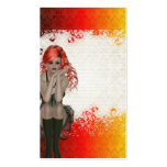 Red headed goth girl pack of standard business cards