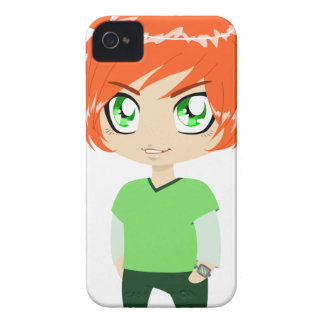 Red Headed Guy In Green Clothes iPhone 4 Case