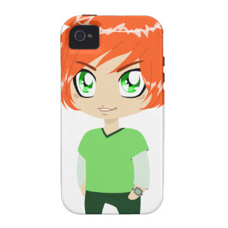 Red Headed Guy In Green Clothes iPhone 4 Cases