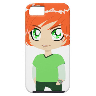 Red Headed Guy In Green Clothes iPhone 5 Covers