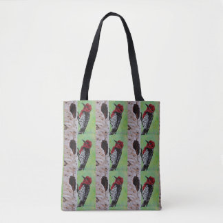 Red Headed Woodpecker Tote Bag