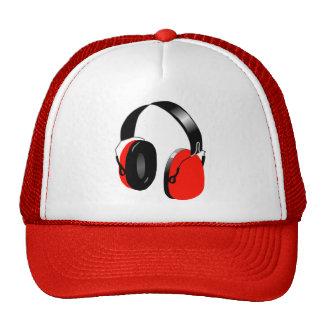 RED HEADPHONES Trucker Hat