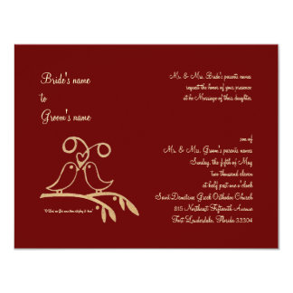 "Red Heart 4.25"" X 5.5"" Invitation Card"