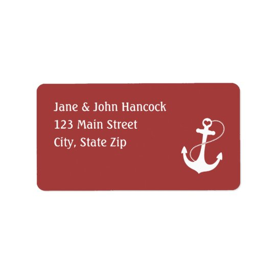 Red Heart Anchor Label