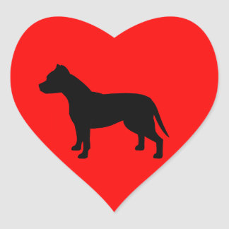 Red Heart APBT Stickers