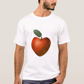 Red Heart Apple - T-shirt