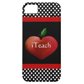 Red Heart Apple Teacher's iPhone 5 Case