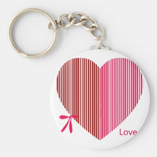 red heart as a gift for a St. Valentine's Day Keychains