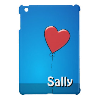 Red Heart balloon and name iPad Mini Cases