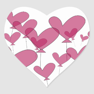 Red heart balloon wedding stickers | sealers