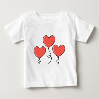 Red Heart Balloons. Baby T-Shirt