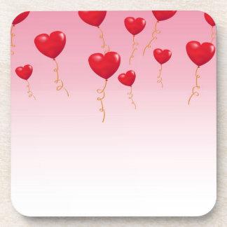 Red heart Balloons Coaster