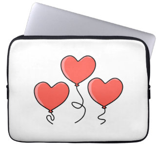 Red Heart Balloons. Laptop Sleeve