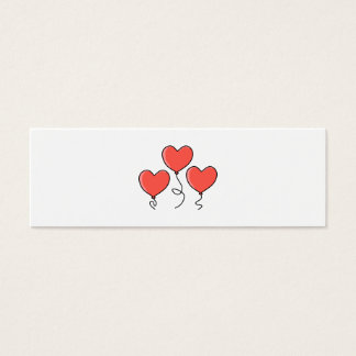 Red Heart Balloons. Mini Business Card