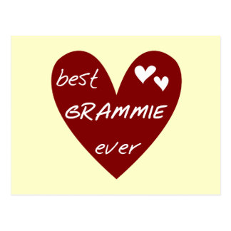 Red Heart Best Grammie Ever T-shirts and Gifts Postcard