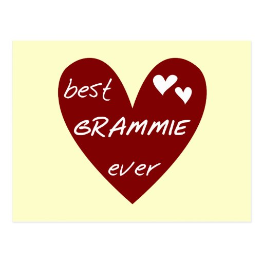 Red Heart Best Grammie Ever T-shirts and Gifts Postcards