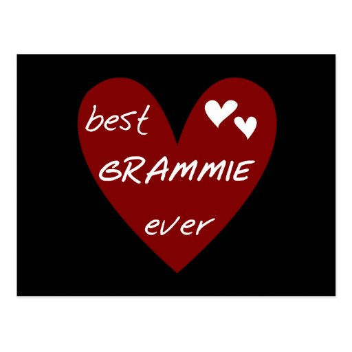 Red Heart Best Grammie Ever T-shirts and Gifts Post Cards