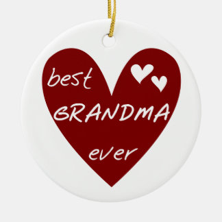 Red Heart Best Grandma Ever T-shirts and Gifts Christmas Ornament
