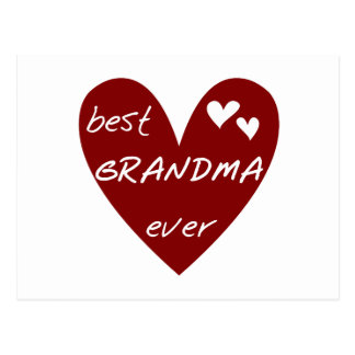 Red Heart Best Grandma Ever T-shirts and Gifts Postcards