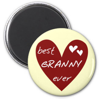 Red Heart Best Granny Ever Tshirts and Gifts Fridge Magnet