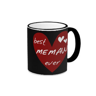 Red Heart Best Memaw Ever T-shirts and Gifts Coffee Mugs