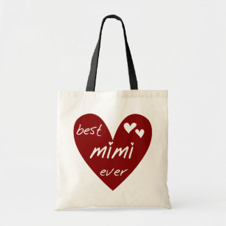 Red Heart Best Mimi Ever Tshirts and Gifts Budget Tote Bag